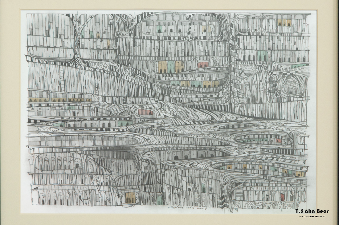 Continuum - Variation No.18 | Drawing by Tiong-seah Yap [ T.S aka Bear ] © 2009 All rights reserved