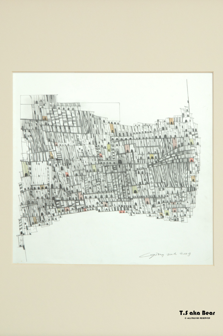 Continuum - Variation No.02 | Drawing by Tiong-seah Yap [ T.S aka Bear ] © 2009 All rights reserved