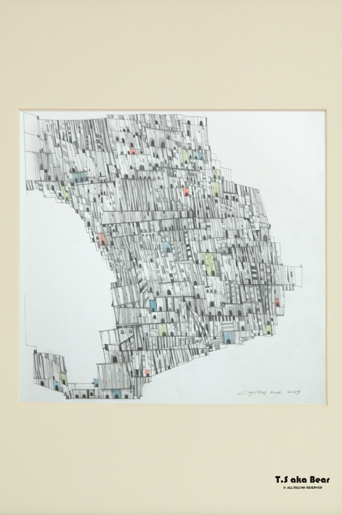 Continuum - Variation No.07 | Drawing by Tiong-seah Yap [ T.S aka Bear ] © 2009 All rights reserved