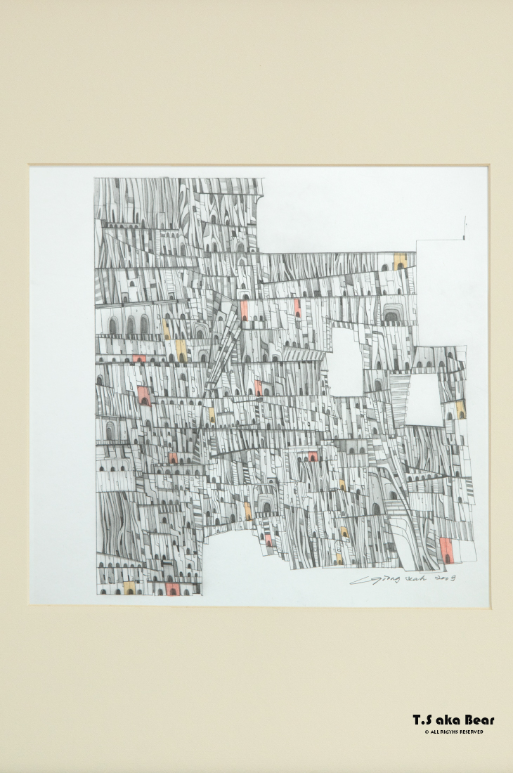 Continuum - Variation No.08 | Drawing by Tiong-seah Yap [ T.S aka Bear ] © 2009 All rights reserved