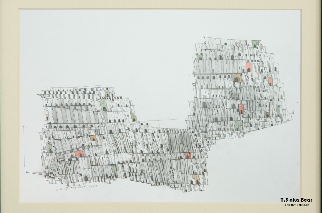 Continuum - Variation No.14 | Drawing by Tiong-seah Yap [ T.S aka Bear ] © 2009 All rights reserved
