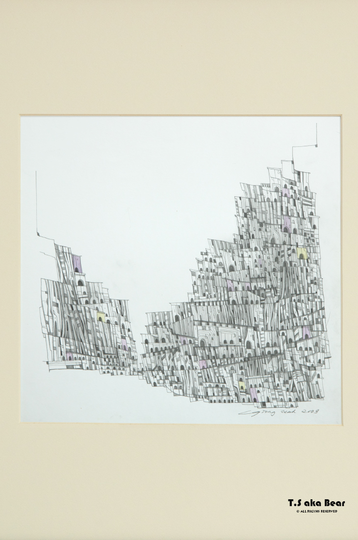 Continuum - Variation No.09 | Drawing by Tiong-seah Yap [ T.S aka Bear ] © 2009 All rights reserved