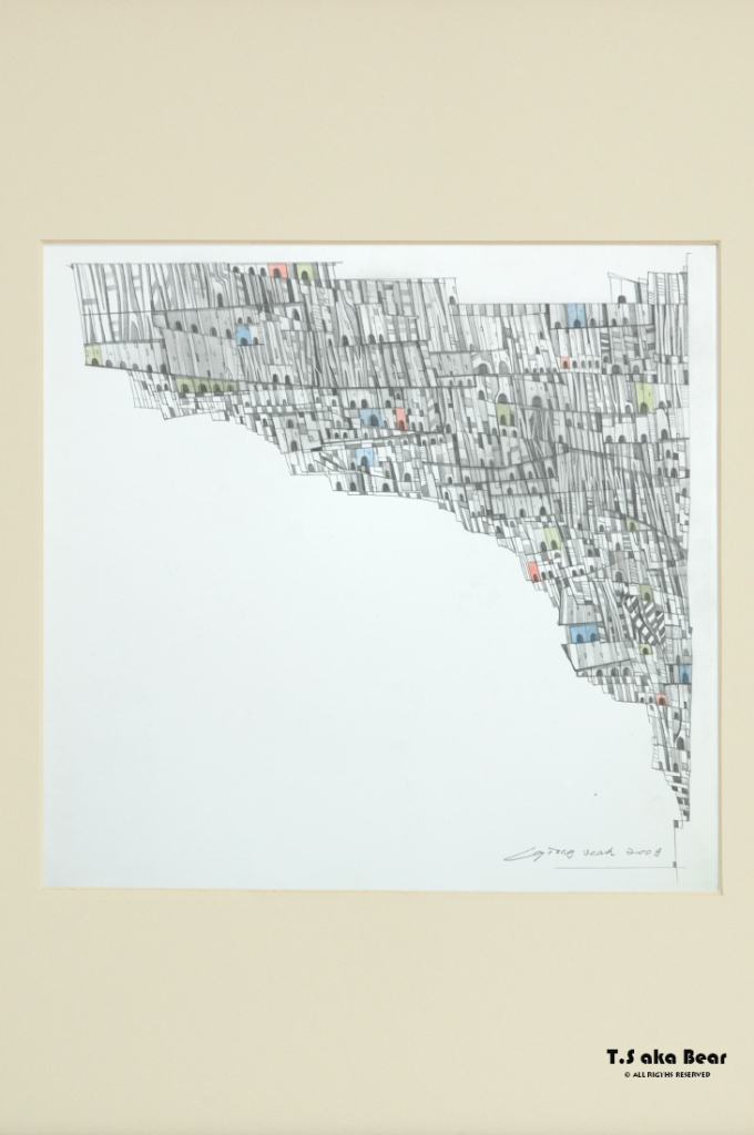 Continuum - Variation No.10 | Drawing by Tiong-seah Yap [ T.S aka Bear ] © 2009 All rights reserved