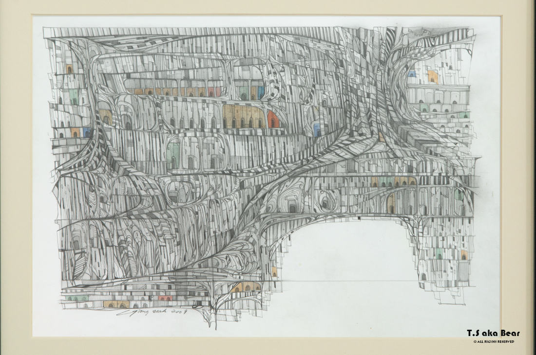 Continuum - Variation No.17 | Drawing by Tiong-seah Yap [ T.S aka Bear ] © 2009 All rights reserved