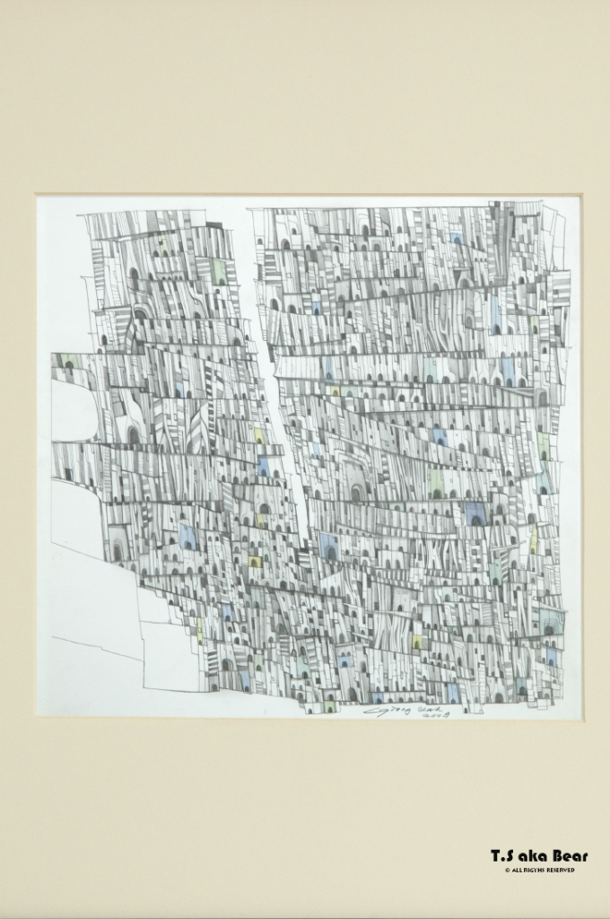 Continuum - Variation No.05 | Drawing by Tiong-seah Yap [ T.S aka Bear ] © 2009 All rights reserved