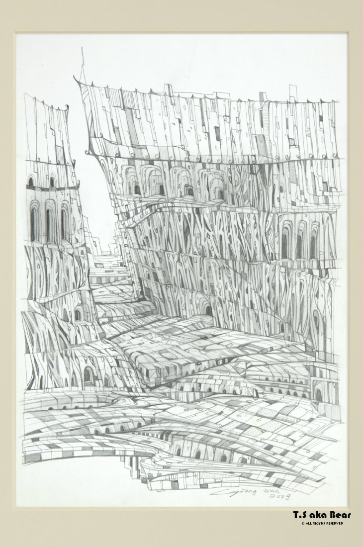 Continuum - Variation No.37 | Drawing by Tiong-seah Yap [ T.S aka Bear ] © 2009 All rights reserved