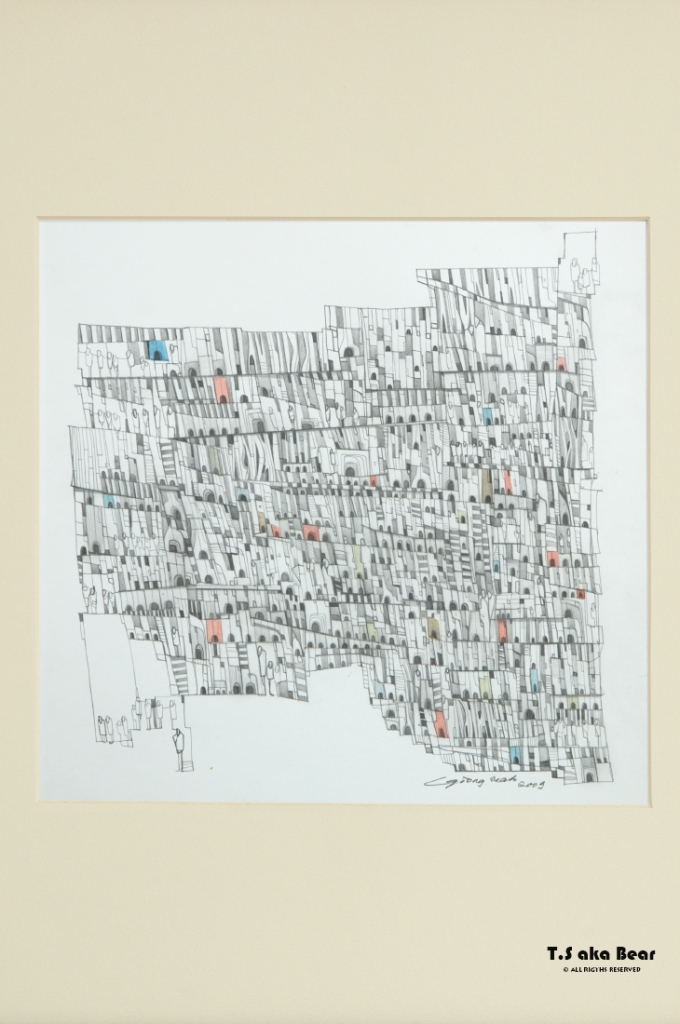 Continuum - Variation No.06 | Drawing by Tiong-seah Yap [ T.S aka Bear ] © 2009 All rights reserved