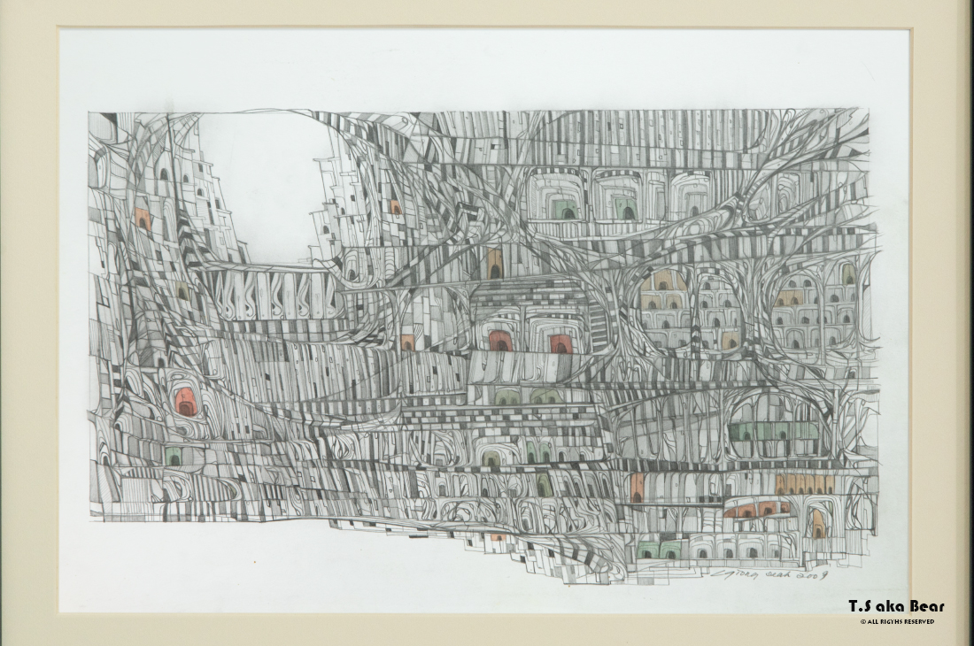 Continuum - Variation No.16 | Drawing by Tiong-seah Yap [ T.S aka Bear ] © 2009 All rights reserved