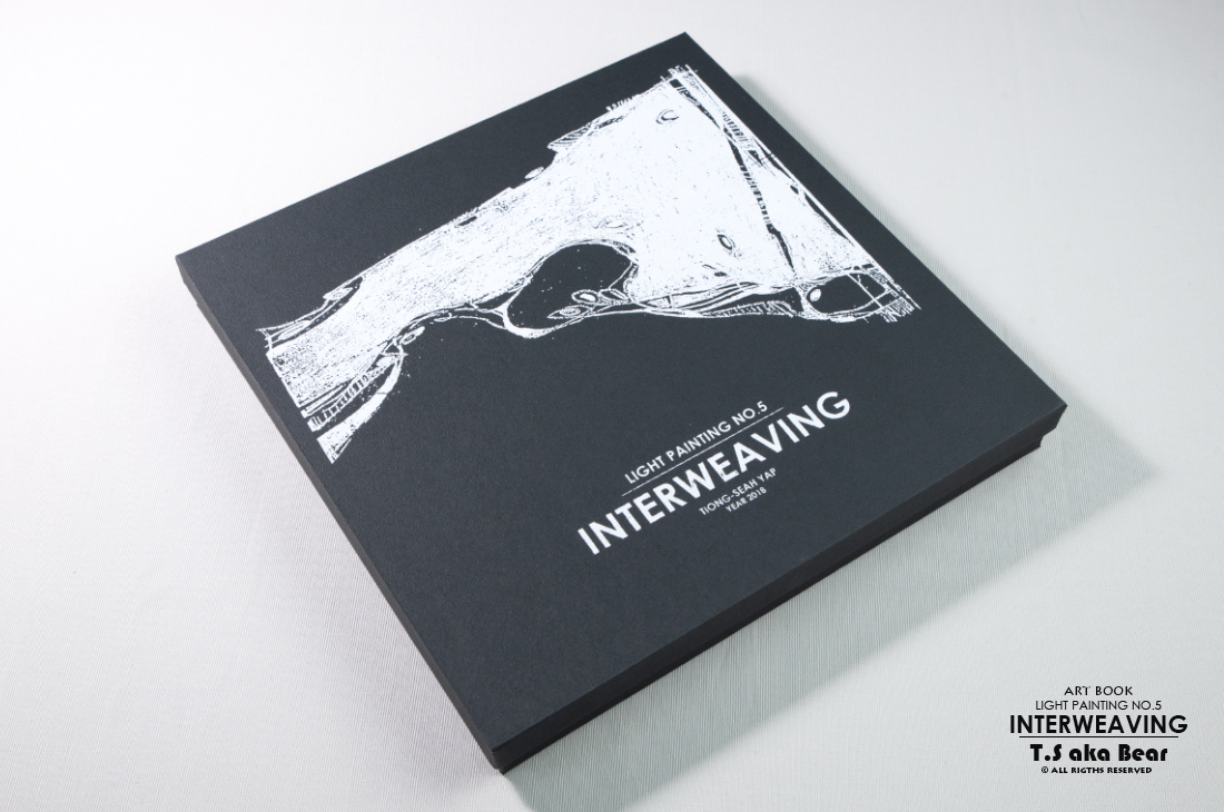Art book - Light Painting No.5  - Interweaving by  Tiong-seah Yap [ T.S aka Bear ] Year 2018 © All rights reserved